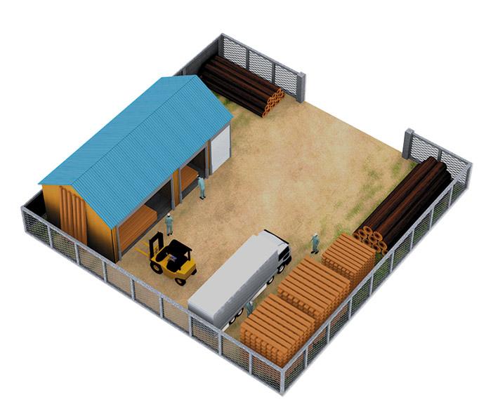 資材置場向モデルプラン 設置図