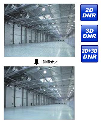 DNR(デジタルノイズリダクション)機能画像