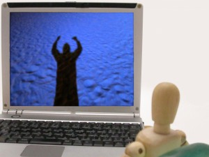 パソコン画面見る