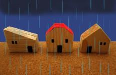 家に降る雨