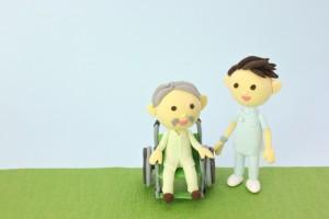 おじいさんと看護師