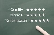 質と価格と満足度
